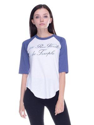 Реглан біло-синій з написом | 1893889