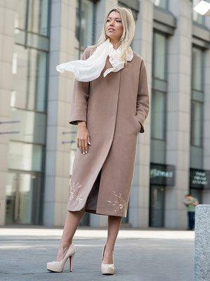 Пальто коричневе | 3552148