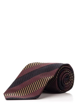Краватка бордова в смужку - Donna Karan - 1097143