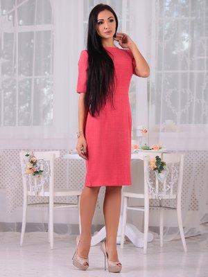 Сукня кольору червоний корал | 3692801