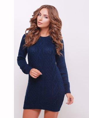 Сукня-туніка темно-синя | 3698079