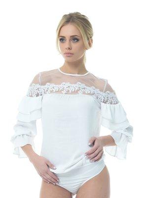 Блуза-боди белая | 3665437