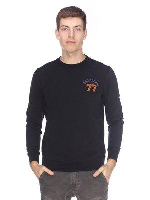 Джемпер черный с вышивкой | 2632197