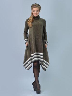 Сукня кольору хакі | 3713418