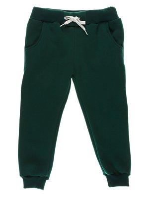 Брюки зеленые с начесом | 3712819