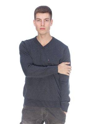 Пуловер темно-сірий | 3718068