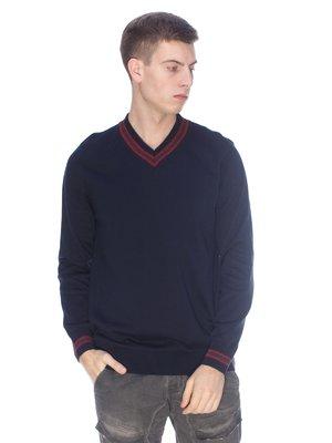 Пуловер темно-синій | 3718138