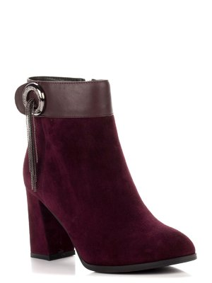 Ботинки бордовые | 3683051