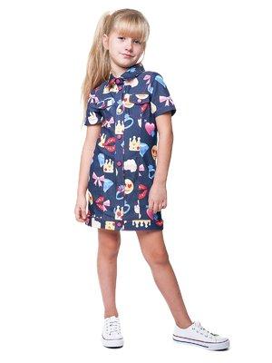 Платье синее в принт | 3244904