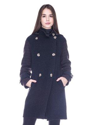 Пальто синьо-коричневе   3685768