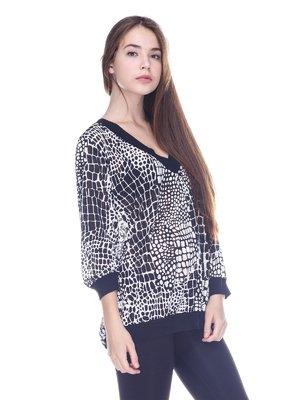Пуловер в принт | 3734040