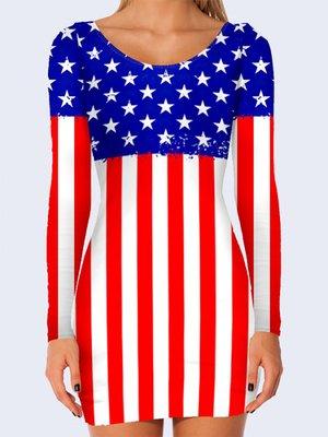 Платье с американской символикой | 3736925