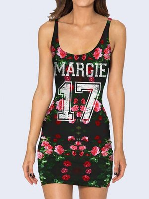 Сукня з квітковим принтом | 3736943