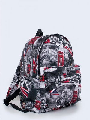 Рюкзак сірий з принтом   3738128