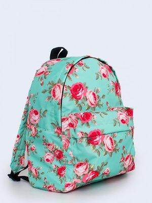 Рюкзак блакитний з квітковим принтом   3738135
