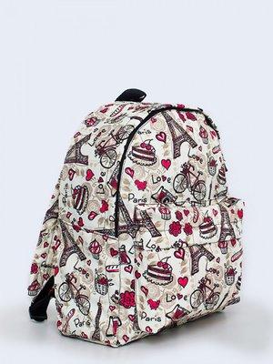 Рюкзак білий з принтом   3738136