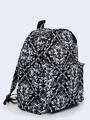 Рюкзак чорний з візерунком   3738148