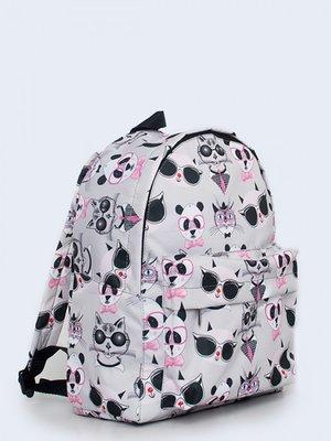Рюкзак сірий з принтом   3738149