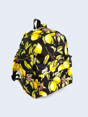 Рюкзак чорний з принтом   3738153