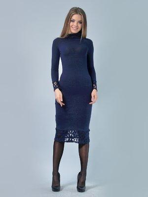 Платье темно-синее | 3724301