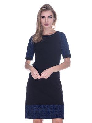 Платье черно-синее | 3733726