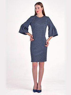 Сукня синя в горошок | 3749256