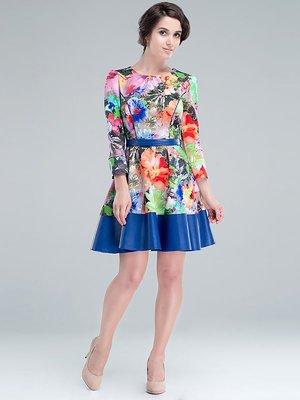 Платье разноцветное принтованное   3135715