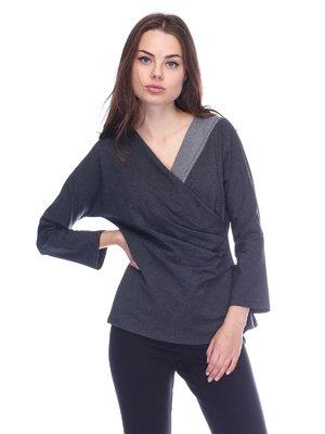 Блуза темно-серая | 3752024