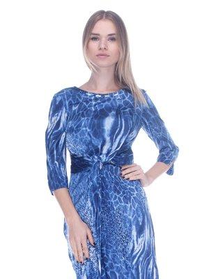 Сукня синя в принт | 3752058