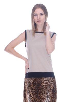 Сукня бежево-коричнева | 3752055