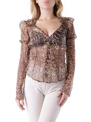 Блуза анімалістичного забарвлення | 3756307