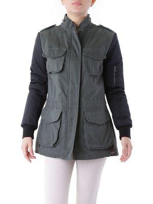 Куртка оливкового кольору | 3756621