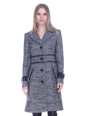 Пальто сіро-біле | 3752126
