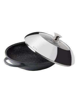 Сковорода-вок с крышкой (32 см) - Granchio - 3762200