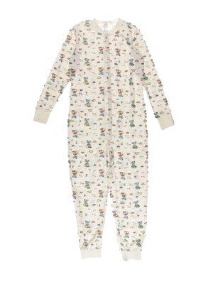 Человечек-пижама молочного цвета с принтом   3755696
