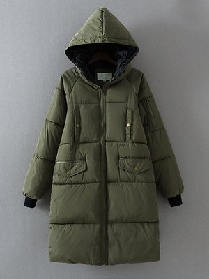 Пальто кольору хакі   3764785