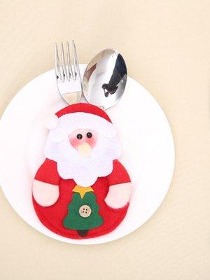 Новогоднее украшение для столовых приборов «Санта» | 3765738