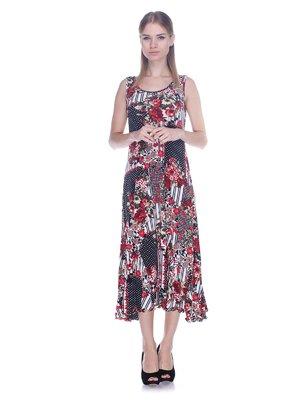 Платье в цветочный принт и горошек | 3387728