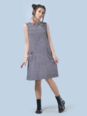 Платье-сарафан серое | 3744418