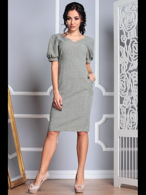 Платье темно-оливкового цвета | 3767798