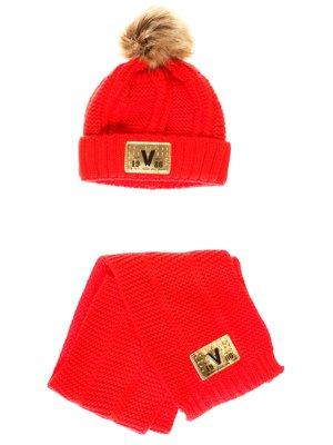 Комплект: шапка та шарф | 3765556