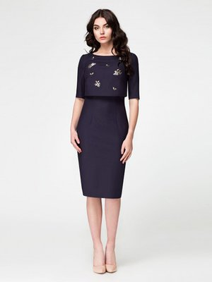 Платье темно-синее | 3770483