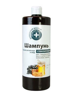Шампунь для стимулирования роста волос и укрепления волосяных луковиц «Мумие алтайское и мед» (1000 мл) | 1901179
