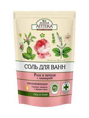 Сіль для ванн «Троянда і пачулі» (500 г) — дой-пак | 3746707