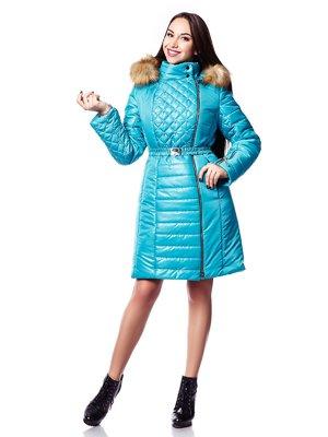 Пальто бирюзовое | 3774536