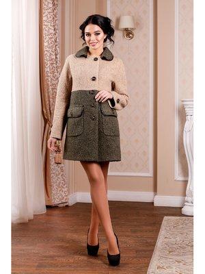Пальто двоколірне | 3774665