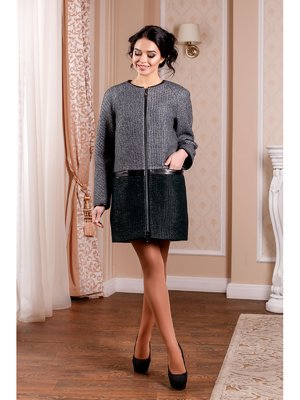 Пальто двоколірне | 3774752