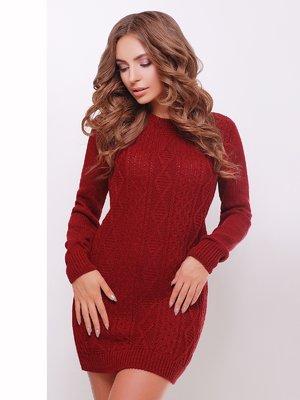Сукня-туніка бордова | 3775509