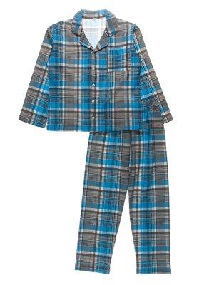 Піжама з начосом: кофта та штани | 3774305