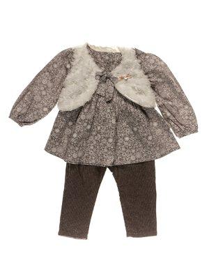 Комплект: блуза, жилет і штани | 3777336